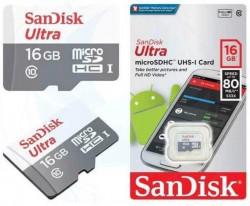 Thẻ Nhớ Thẻ nhớ MicroSDHC SanDisk Ultra 16GB 80MB/s